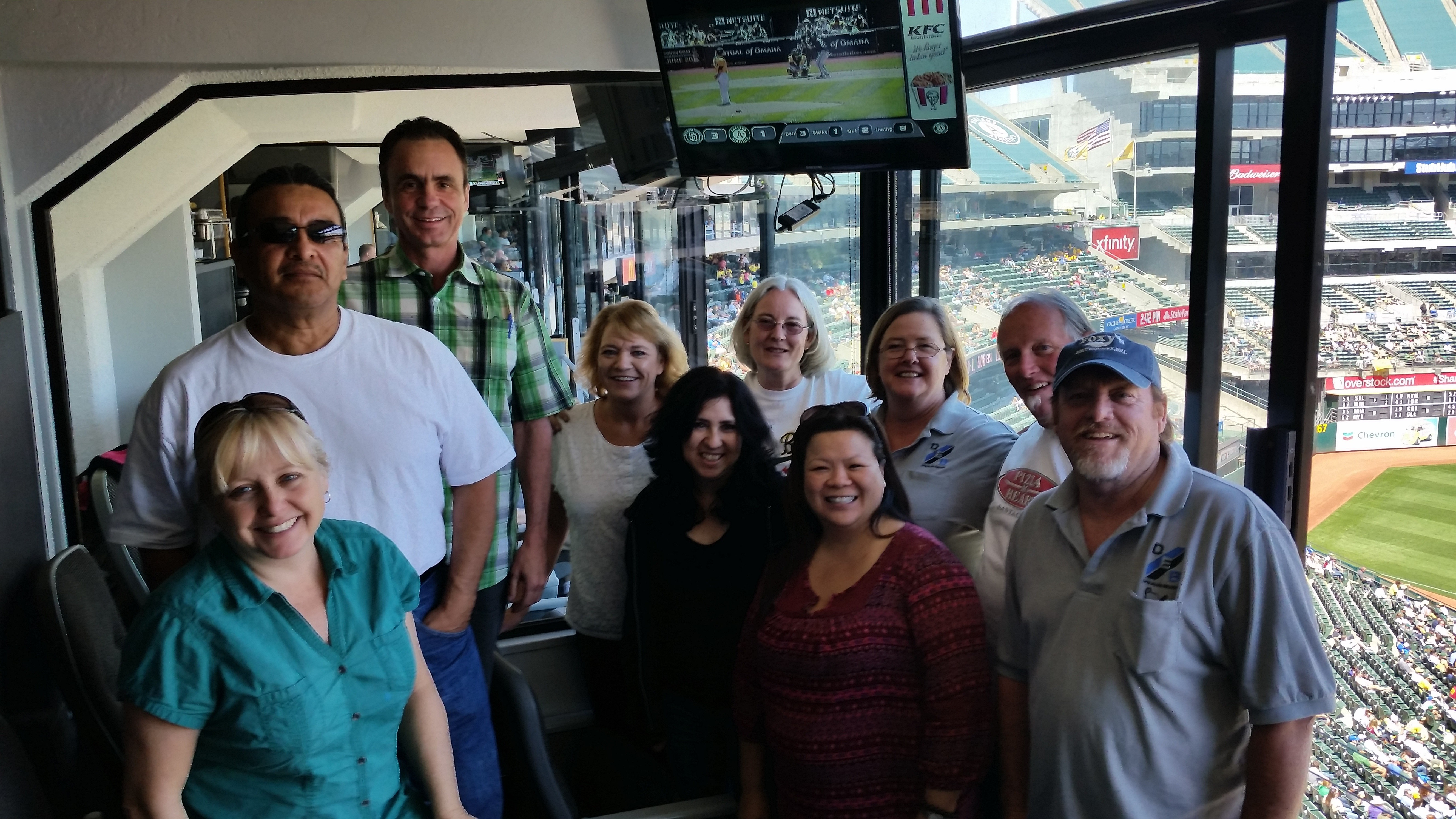NorCal Team Building at Oakland A's/San Diego Padres Baseball Game