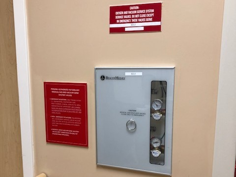 Providence – St. John's Health Center – Medical Gas Alarm Panel